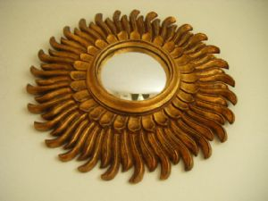 French Convex Sunburst Mirror (du2)
